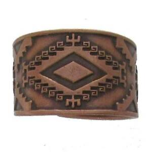 Solid-Copper-Ring-Southwest-Western-Jewelry-Band-Southwestern-Arthritis-Pain-New