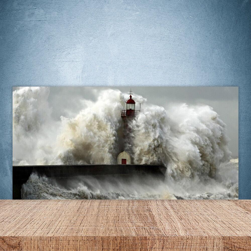 Crédence de cuisine en verre Panneau Paroi 100x50 Paysage Phare