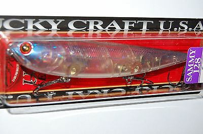"lucky craft sammy 128 topwater lure 5/"" 1oz floating ghost nishiki clown walk dog"