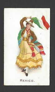 WILLS-O-039-SEAS-FLAG-GIRLS-OF-ALL-NATIONS-MEXICO