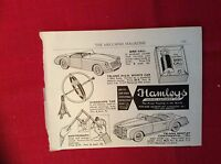 m12y ephemera 1950/s advert hamleys toys triang bentley mga sports car