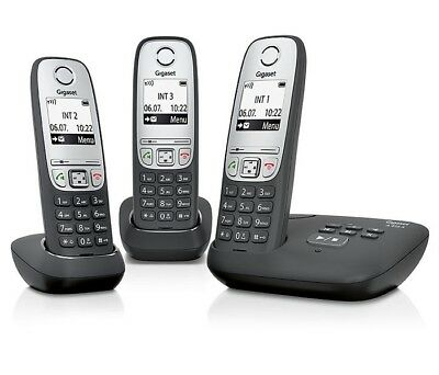 Siemens Gigaset A415a Trio Dect Cordless Phone Black Answering Machine Genuine Ebay