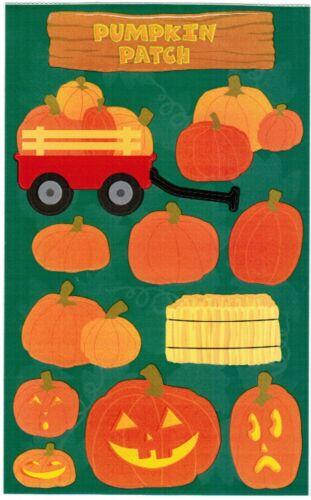 Mrs Grossman/'s PUMPKIN Patch Jack o Lantern Hay Scrapbook Stickers 3 Sheets