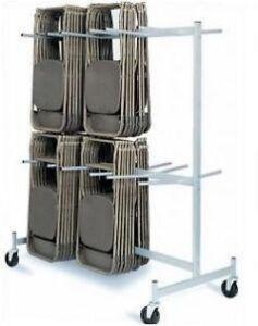 Folding Chair Storage Cart 2 Tier Chair Truck Dolly Ebay