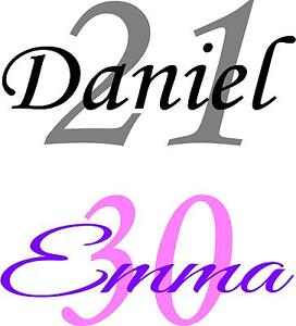 1-x-Name-And-Age-Number-Wine-Glass-Pint-Glass-Decal-Stickers-Special-Occasion