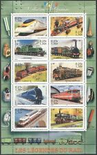 France 2001 Steam Engines/Trains/Locomotives/Rail/Railway/Transport sht (n41283)