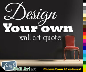 Custom Wall Quote Stickers Uk Personalized Family Name Art Wall - Vinyl stickers design your own