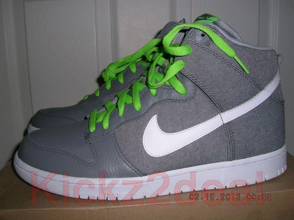 NEW NIKE DUNK HIGH Shoes Denim Pack SZ 11 Cool Grey/White/Green 317982-045 p rod