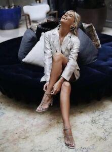 Blazer Fav Sequin Blogger Tuxedo Zara L Jacket Oversized Silver OInqA