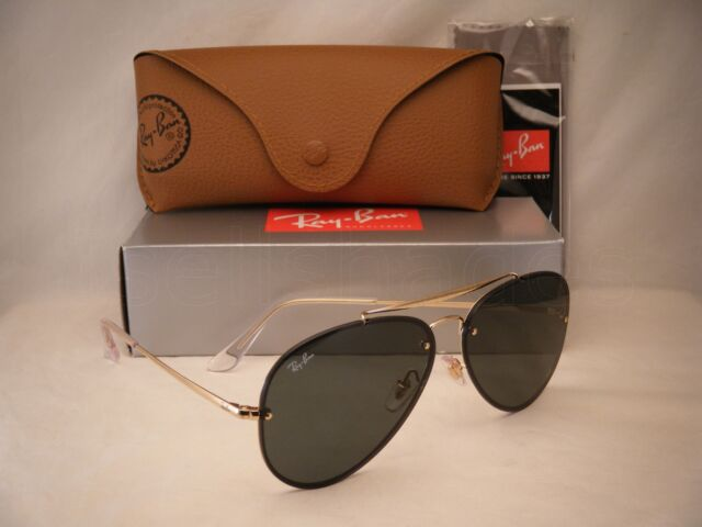 79e5ac8f23 Ray Ban 3584N Blaze Aviator Gold w Green Lens (RB3584N 905071 61 mm size)