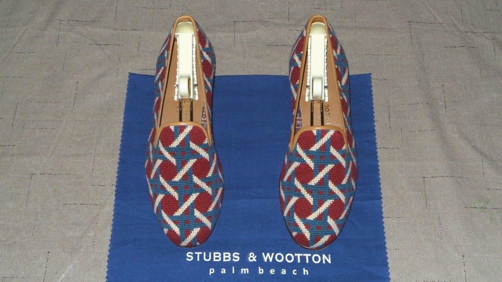 Lindo Mujer Bordado Stubbs and wootton Bordado Mujer caa Zapatillas Mocasines Zapatos 894aff