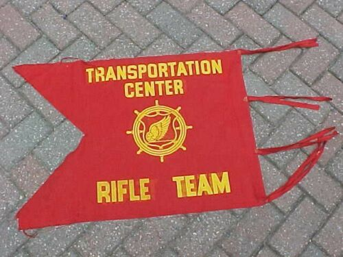 ORIGINAL KOREAN WAR FT EUSTIS TRANSPORTATION CENTER RIFLE TEAM GUIDON
