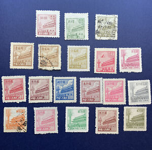 CHINA-GATES-OF-HEAVENLY-PEACE-STAMP-LOT-HIGH-DENOMINATIONS