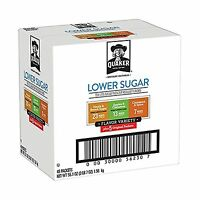 Quaker Instant Oatmeal Lower Sugar Variety Pack Breakfast Cerea... Free Shipping