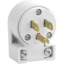 100 Pk Leviton 15A 3-Wire 2-Pole Commercial Grade Angle Cord Plug 000-515AN-000