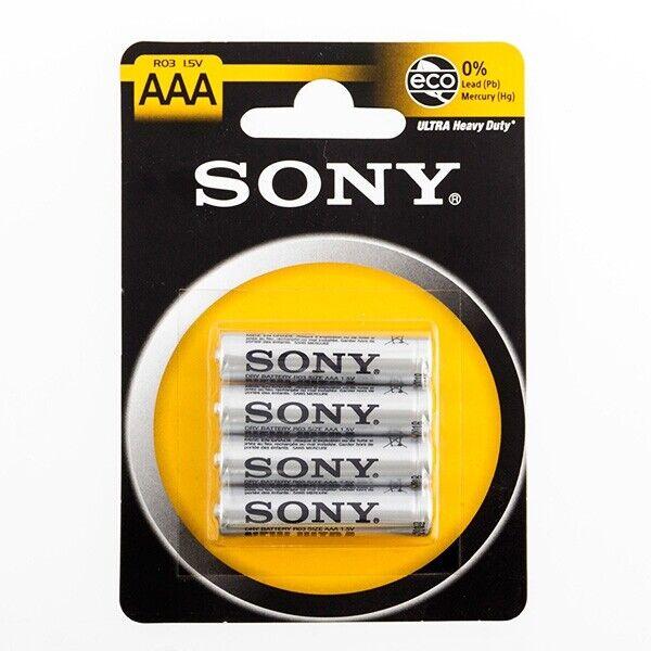 8 Piles Sony LR 3 - Validité 05 / 2022
