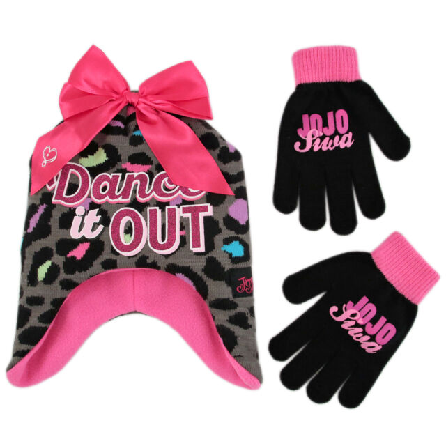 Buy Nickelodeon Jojo Siwa Hat and Gloves Cold Weather Set Little ... 47a852dd5a6