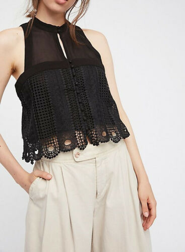 Lace Taille Noir Xs Ob651955 Slim Free People Rory Femmes Top UnATHC