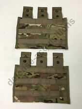 Set of 2 US Military Multicam Triple Mag Magazine Pouch MOLLE 3 X 30 Round