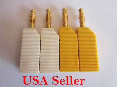 14 pcs EASTONE E0534E Top BFA Banana Plugs Cable 24k Audio Adapter Converter USA