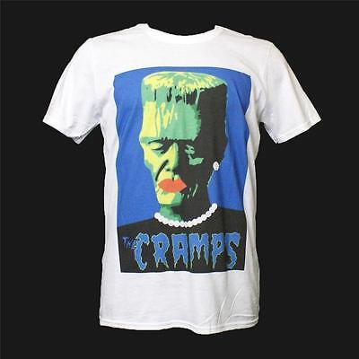 The Cramps T shirt Medium White 1980s Goth Punk Rock Rockabilly Graphic Tee M