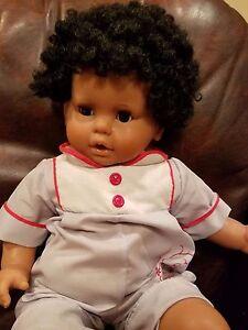 "Precious Zanini & Zambelli Doll 22"" Eyes open and close ,Made in Italy #596 GWD"