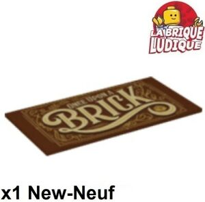 Lego-1x-Tile-decorated-8x16-livre-book-ONCE-UPON-A-BRICK-90498pb13-21315-NEUF