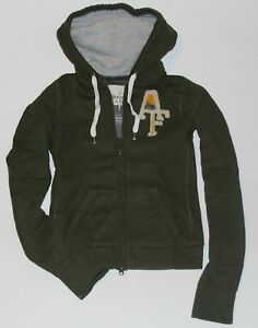 NWT-ABERCROMBIE-amp-Fitch-Womens-Vintage-Classic-Hoodie-Sweatshirt-Olive-S