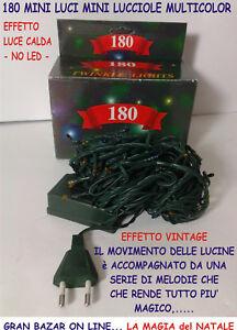 Centraline Per Luci Natalizie.Natale Mini Luci 180 Pz Multicolor Vintage Con Melodie Centralina
