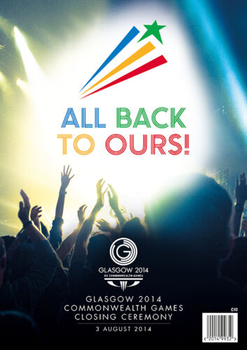 2014 COMMONWEALTH GAMES CLOSING CEREMONY PROGRAMME GLASGOW