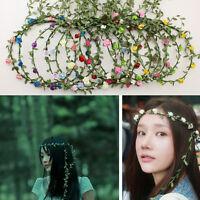Fashion Girl's Floral Garland Hairband Wedding Party Flower Forehead Headband