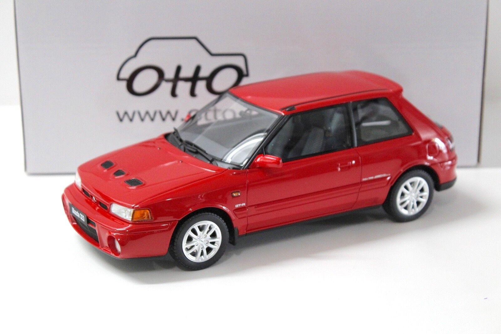 1:18 otto MAZDA 323 GT-R 1992 RED NEW in Premium-MODELCARS
