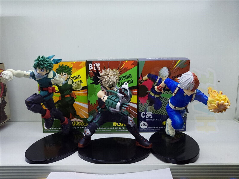 3pcs set My My My Hero Academia Midoriya Izuku Bakugou katsuki Todgoldki Shoto Figure 9082c1