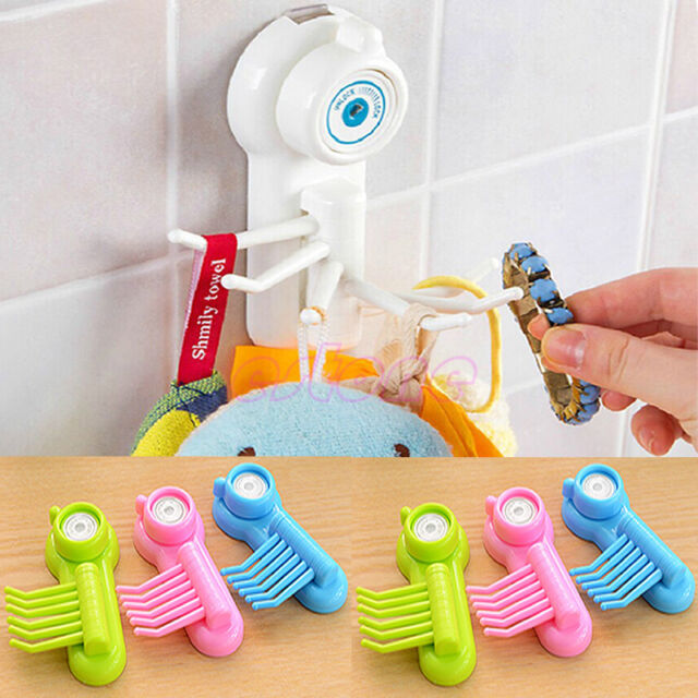 New Kitchen Bathroom Powerful Wall Sucker Vacuum Suction Cup Hook Hanger 1pc