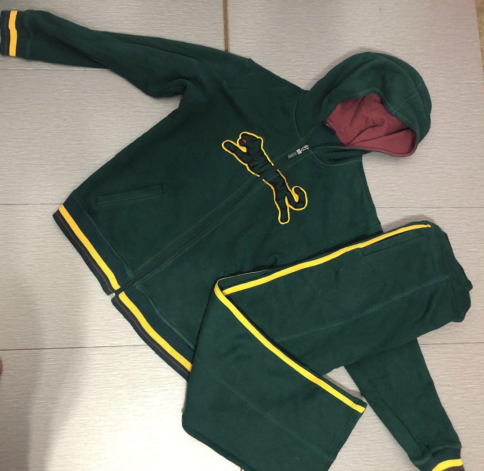 1990's Womens Le Tigre Green J Sweatsuit Size M L