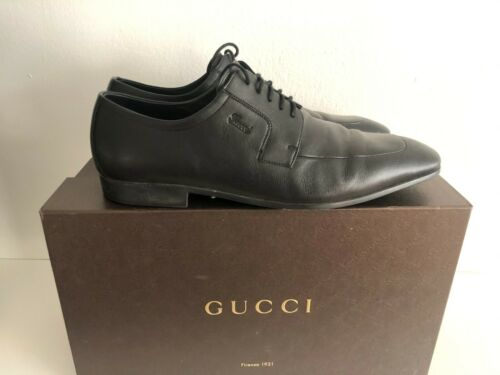 Gucci Men's Black Lace-up Dress Shoes