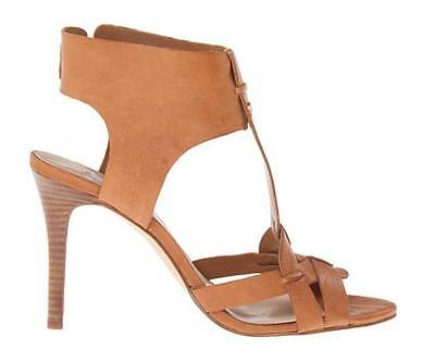 Women's Shoes GUESS HYANNE T-Strap Sandals Heels Leather Medium Brown