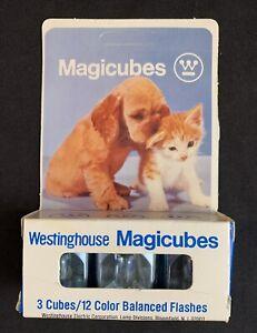 Vintage Westinghouse Magicubes Flash Cubes - 3 Cubes 12 Color Balanced Flashes