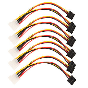 15cm-5pcs-4-Pin-IDE-Male-to-Dual-SATA-Y-Splitter-Female-HDD-Power-Adapter-Cable