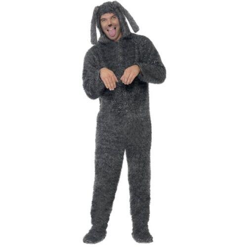 Unisex Kostüm flauschiger Hund Hundekostüm Karneval Fasching Smi