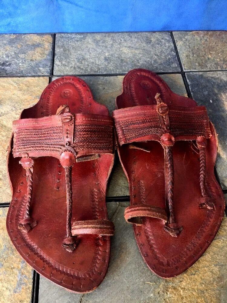 1 hecho a mano de una una una clase única Jesús Del Dedo Del Pie Sandalias De Cuero Para Mujeres Mulas Zapatos Talla 8  estar en gran demanda