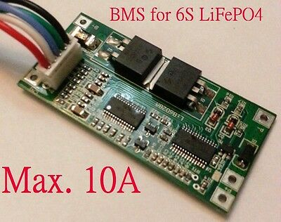 Battery Protection BMS PCB Board for 6 Packs 19.2V LiFePO4 Cell max 10A Balance