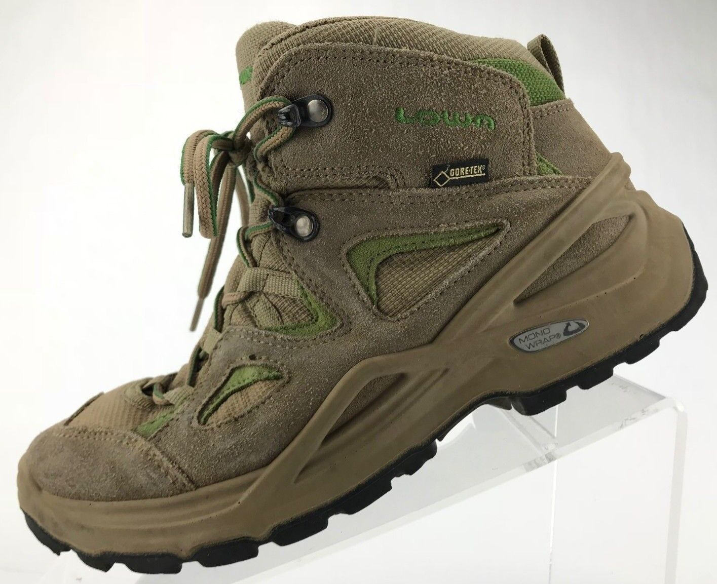 Lowa Hiking Boots - Suede Gore-Tex All Terrain Trail Ankle shoes Womens 6 Taupe