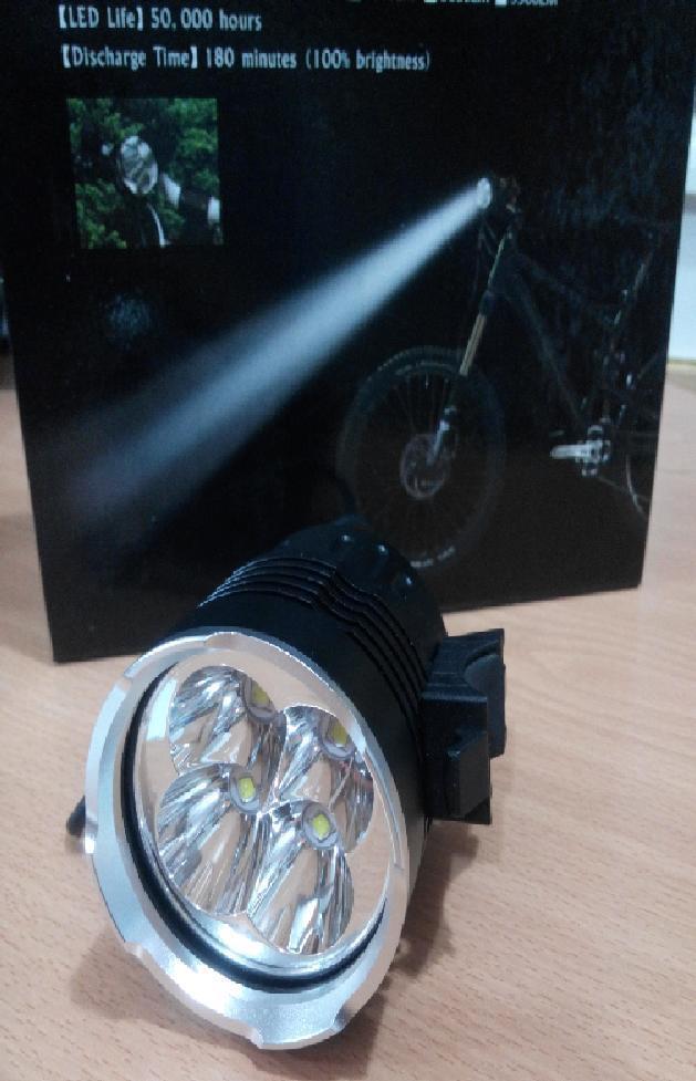 LINTERNA FARO FOCO PROFESIONAL LED  4 CREE XM-L T6 5500LM CICLISMO BICI PESCA