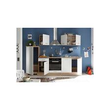 ANDREA - Cucina in quercia Sonoma / bianco opaco d'imitazione, ca. 270x195x60 cm