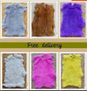 Rabbit Pelt Genuine Leather Fur Various Colors to chose from