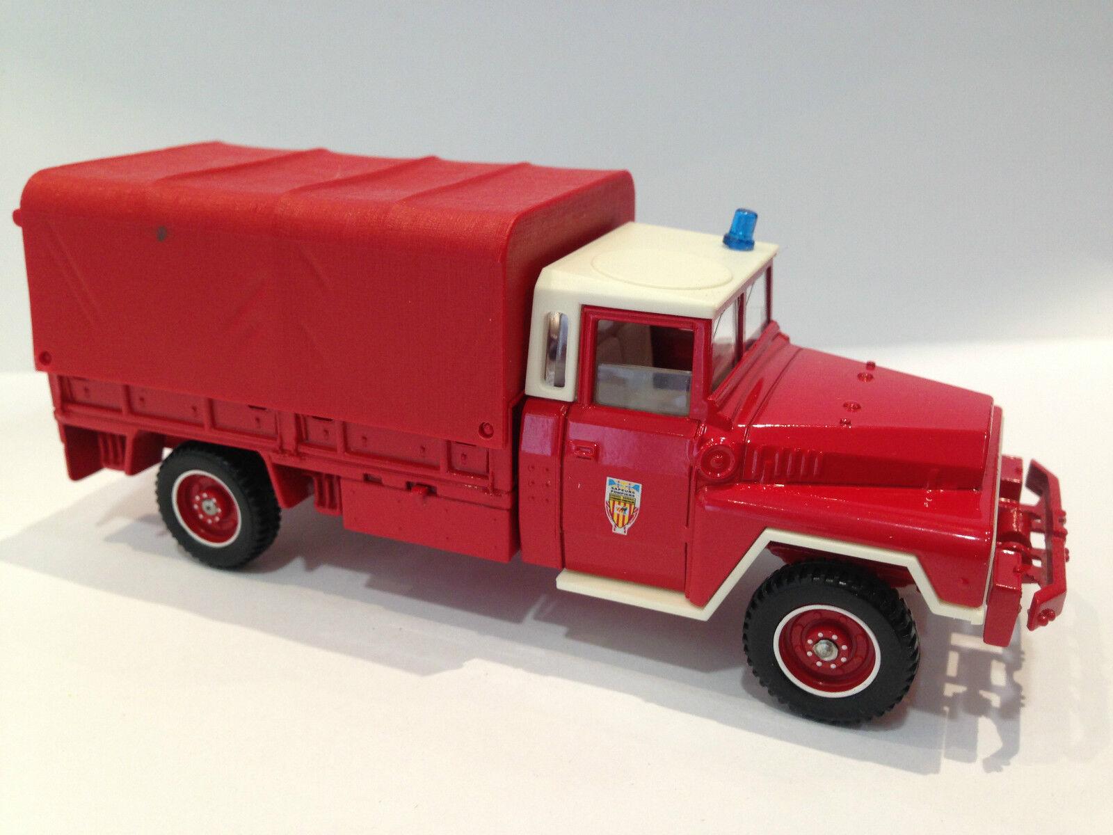 Vintage-Solido-Camión De Juguete Coche ejército Transporter M1 43 ACMAT 4x4 bache 2192