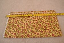 """BTHY, 41"""", Quilter's Cotton, Burgundy & Olive-Green on Yellow-Gold, Moda, C1000"""