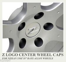 """4x 350Z Z LOGO CENTRE CAPS SET FOR 18"""" RAYS ALLOY WHEEL TRACK CENTER"""