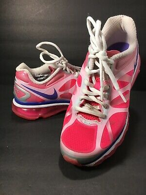 NIKE AIR MAX 488124 600 PINK Flash Running Shoes Girls 4Y 7183 | eBay